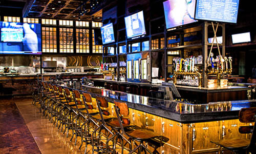 Industrial kitchen design layout - Tap At Mgm Grand Detroit Downtown Detroit Bars